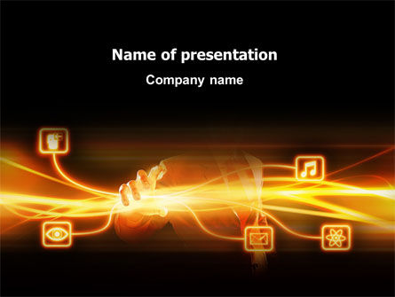 Business Concepts: Wireless Communication PowerPoint Template #03093