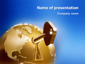 Global Keyhole PowerPoint Template#1
