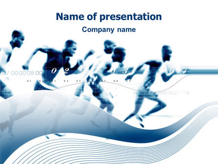 Runner PowerPoint Template, 03096, Sports — PoweredTemplate.com