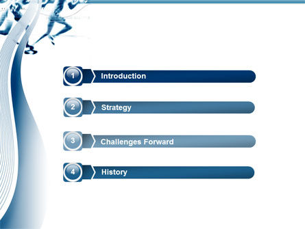 Runner PowerPoint Template, Slide 3, 03096, Sports — PoweredTemplate.com