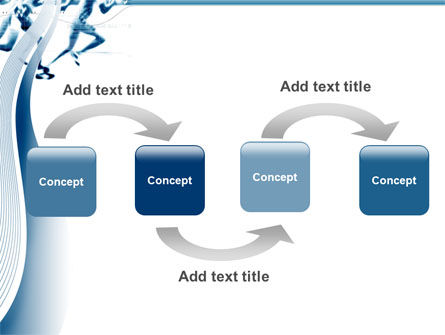 Runner PowerPoint Template, Slide 4, 03096, Sports — PoweredTemplate.com