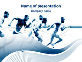 Sports: Runner PowerPoint Template #03096