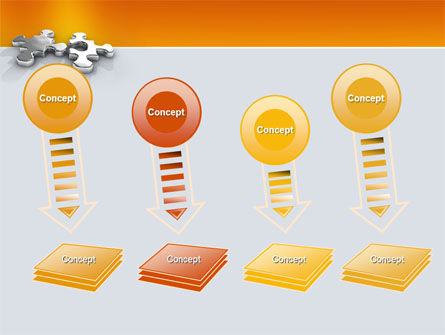 Steel Puzzle PowerPoint Template Slide 8