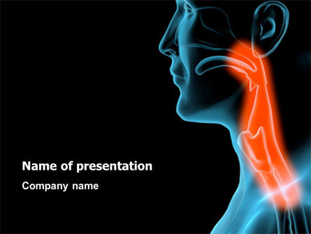 Medical: Respiratory Tract PowerPoint Template #03099