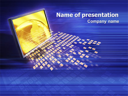 Technology and Science: Globe Net PowerPoint Template #03101