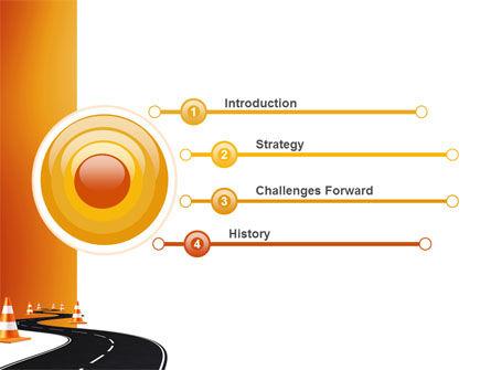 Road Work PowerPoint Template, Slide 3, 03104, Cars and Transportation — PoweredTemplate.com