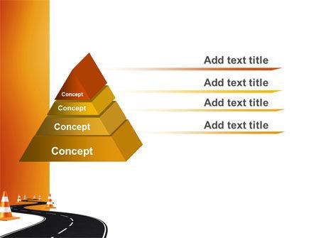 Road Work PowerPoint Template, Slide 4, 03104, Cars and Transportation — PoweredTemplate.com