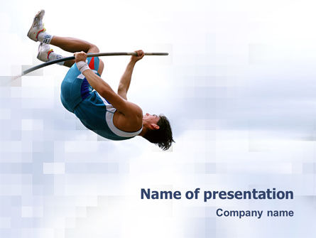 Sports: Jumping PowerPoint Template #03108