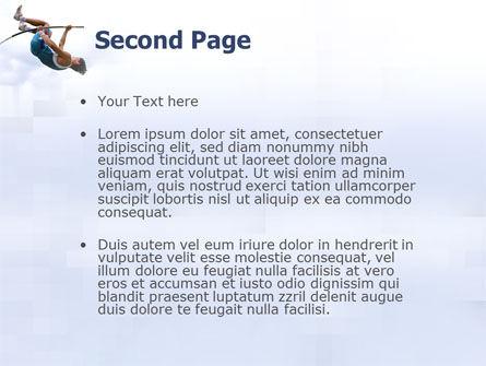 Jumping PowerPoint Template, Slide 2, 03108, Sports — PoweredTemplate.com