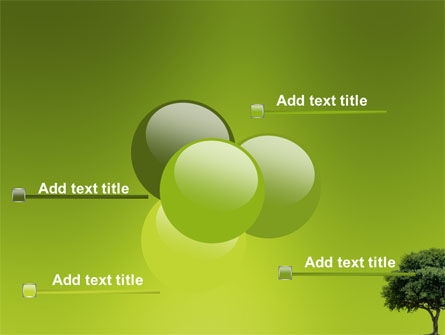 Green Tree On Light Olive Background PowerPoint Template Slide 10