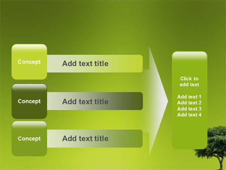 Green Tree On Light Olive Background PowerPoint Template Slide 12