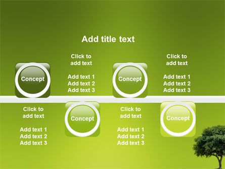 Green Tree On Light Olive Background PowerPoint Template Slide 19