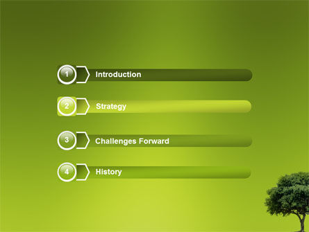 Green Tree On Light Olive Background PowerPoint Template, Slide 3, 03109, Nature & Environment — PoweredTemplate.com
