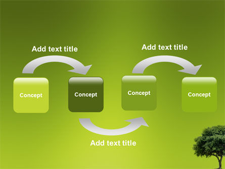Green Tree On Light Olive Background PowerPoint Template, Slide 4, 03109, Nature & Environment — PoweredTemplate.com