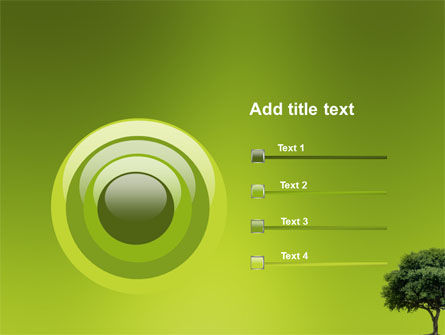 Green Tree On Light Olive Background PowerPoint Template Slide 9