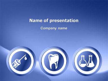 Medical: Dentist Clinic PowerPoint Template #03111
