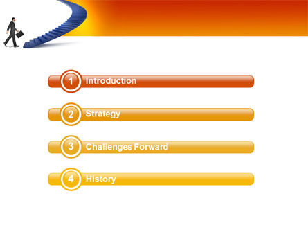 Career Rising PowerPoint Template, Slide 3, 03112, Business Concepts — PoweredTemplate.com