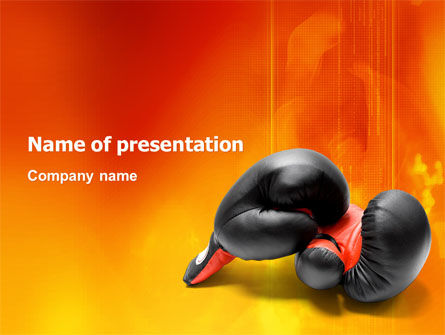 Sports: Bokshandschoenen PowerPoint Template #03113