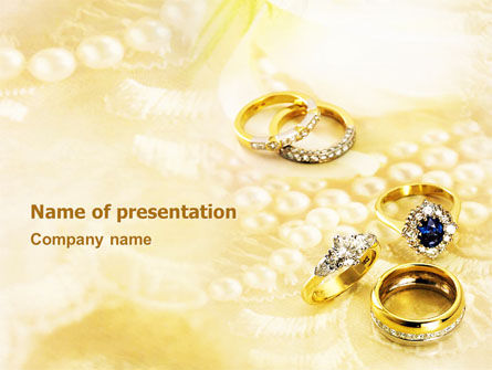 Precious Rings PowerPoint Template, 03116, Careers/Industry — PoweredTemplate.com