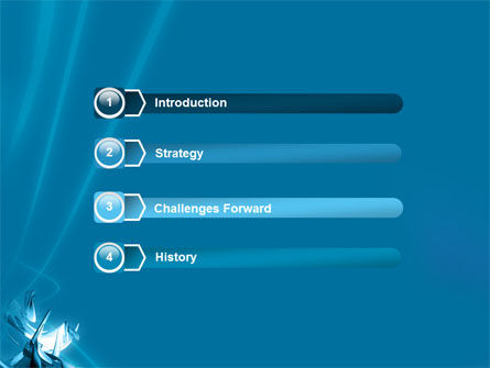 Futuristic Blue PowerPoint Template Slide 3