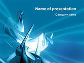 3D: Futuristic Blue PowerPoint Template #03118
