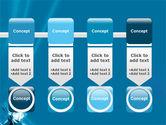 Futuristic Blue PowerPoint Template#18