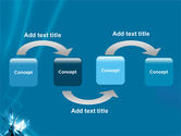 Futuristic Blue PowerPoint Template#4