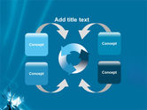 Futuristic Blue PowerPoint Template#6