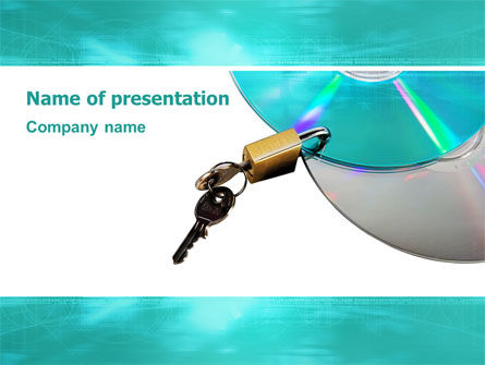 Technology and Science: Data Protection PowerPoint Template #03119