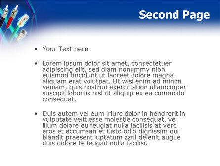 Cables Connectors PowerPoint Template, Slide 2, 03121, Telecommunication — PoweredTemplate.com