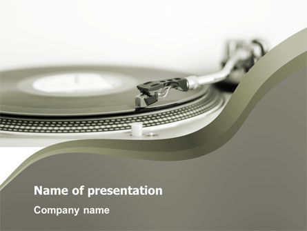 Art & Entertainment: Record Player PowerPoint Template #03122
