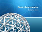 Construction: Framework Sphere PowerPoint Template #03123