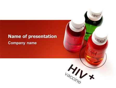 HIV Vaccine PowerPoint Template, 03125, Medical — PoweredTemplate.com