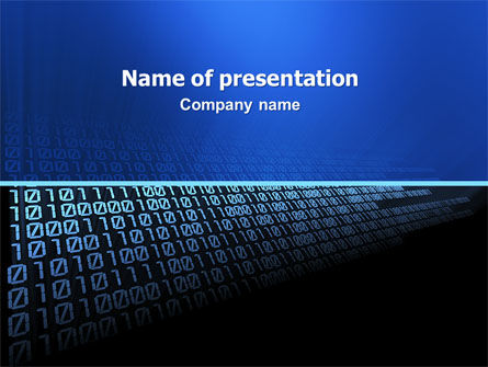 Computer PowerPoint Template, 03128, Technology and Science — PoweredTemplate.com