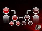 Compass In A Dark Red Velvet PowerPoint Template#19