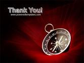 Compass In A Dark Red Velvet PowerPoint Template#20