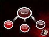 Compass In A Dark Red Velvet PowerPoint Template#4