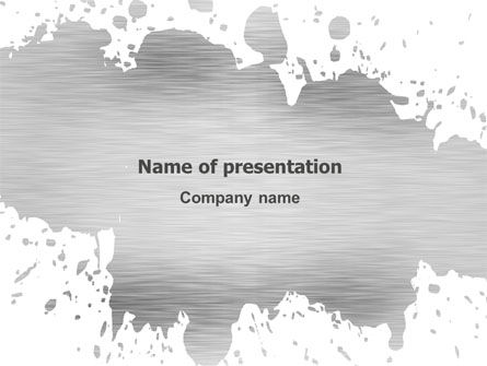Abstract/Textures: Gray Stain PowerPoint Template #03133
