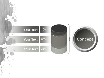 Gray Stain PowerPoint Template Slide 11