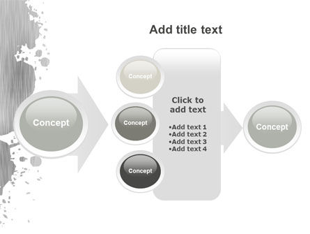 Gray Stain PowerPoint Template Slide 17