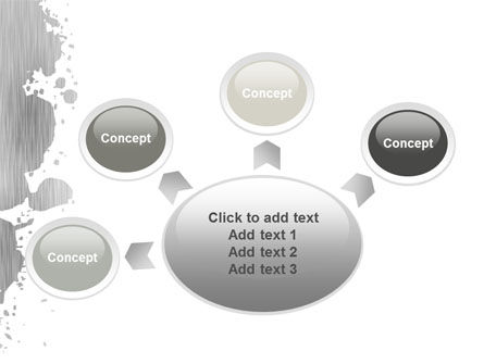 Gray Stain PowerPoint Template Slide 7
