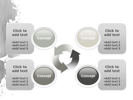 Gray Stain PowerPoint Template Slide 9