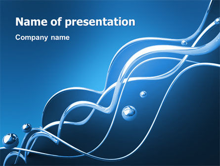 Water Theme PowerPoint Template, 03137, 3D — PoweredTemplate.com