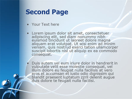 Water Theme PowerPoint Template, Slide 2, 03137, 3D — PoweredTemplate.com
