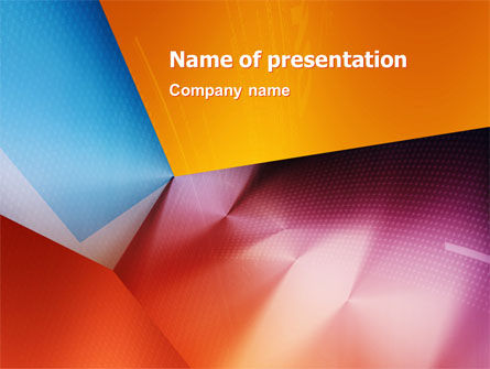 Colorful Angles PowerPoint Template, 03138, Abstract/Textures — PoweredTemplate.com