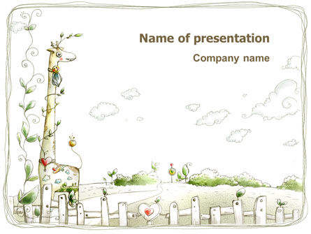 Art & Entertainment: Childish Art PowerPoint Template #03139