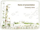 Art & Entertainment: Modelo do PowerPoint - arte infantil #03139