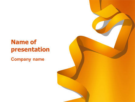 Orange String PowerPoint Template, 03142, Abstract/Textures — PoweredTemplate.com