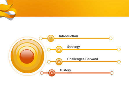Orange String PowerPoint Template, Slide 3, 03142, Abstract/Textures — PoweredTemplate.com