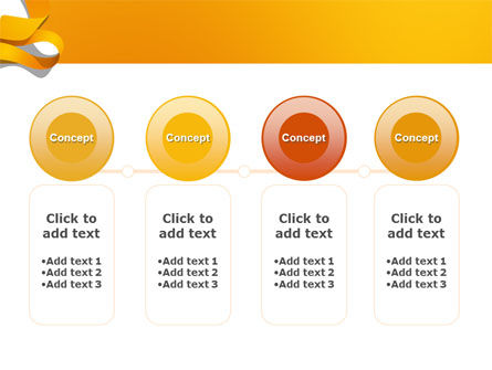 Orange String PowerPoint Template Slide 5